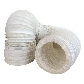 Abluftschlauch PVC flexibel Ø 125 / 127 mm, 6 m z.B. für Klimaanlagen, Wäschetrockner, Abzugshaube