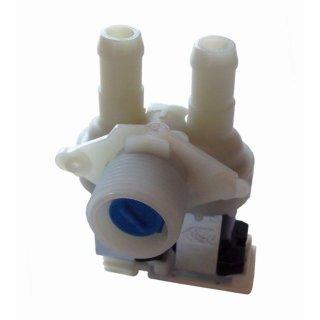 Magnetventil, Ventil 2-fach 90° 14mm passend für Bauknecht Whirlpool Waschmaschine 481227128558