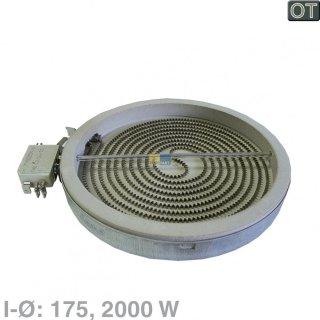 Bosch Siemens Strahlheizkörper Ø 175mm, Kochplatte, Einkreis HiLight Heizkörper mit 2000 W - Nr.: 644726