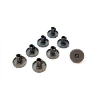 Korbrollenset, 8x Korbrolle für Unterkorb Spülmaschine passend für AEG Electrolux, Ikea, Privileg, Progress, Quelle - 5028696500/4