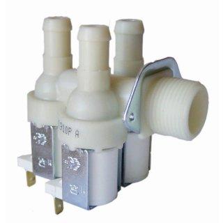 3-Fach Magnetventil Ventil passend für Miele Waschmaschine 1987730, 90°, Ø 14mm mit Reduzierung