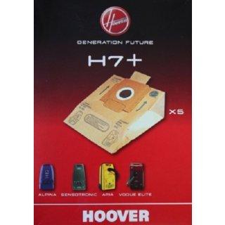 5 Candy Hoover Original Papier-Staubsaugerbeutel Generation Future H7, H7+ - Nr.: 09026177