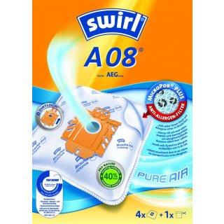 Swirl Staubsaugerbeutel A08 (A09) / A 08 MicroPor Plus AirSpace für AEG Staubsauger Gr. 22 - 23 - 24 - 25 - 26