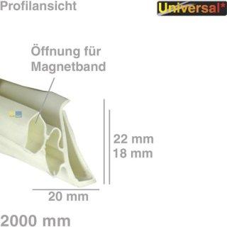 Universal Türdichtung 1-seitig für Kühlschrank, 2 Meter Dichtung #1534