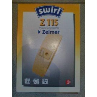 Swirl Staubsaugerbeutel Z115 / Z 115 für Zelmer Staubsauger Twist / AUSLAUF