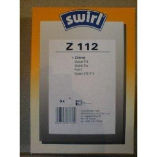 Swirl Staubsaugerbeutel Z112 / Z 112 für Zelmer Staubsauger Wodnik 619 / AUSLAUF