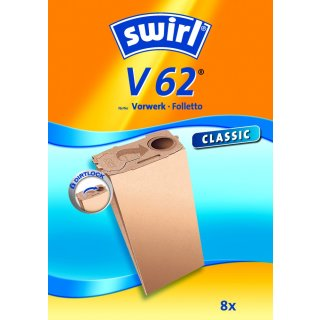 Swirl Staubsaugerbeutel V62 / V 62  passend für Vorwerk Kobold Staubsauger