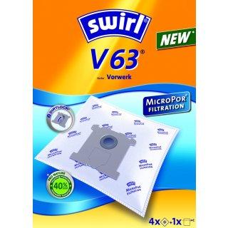 Swirl Staubsaugerbeutel V63 / V 63 MicroPor passend für  Vorwerk Tiger Staubsauger
