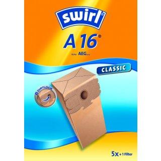 Swirl Staubsaugerbeutel A16 / A 16 für AEG Staubsauger Gr. 12 / 15