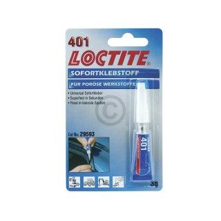 Sekundenkleber Loctite 401, 3g Tube #1546