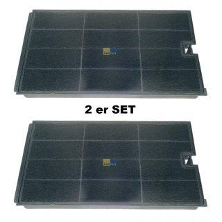 2x Aktiv - Kohlefilter 270x160mm  für Wpro / Bauknecht Dunstabzugshaube CHF035, Typ 35 - 481948048355
