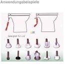 Universal WC-Sitz Toilettensitz Montageschlüssel...