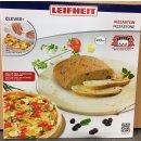 Leifheit Pizzastein rund Ø 33cm mit Wiegemesser