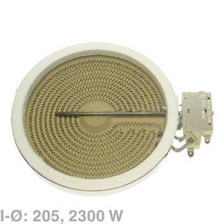AEG Electrolux Hilight-Strahlheizkörper, Einkreis-Strahlheizkörper Ø 205mm wie EGO 10.5111.004 für Glaskeramikkochfelder - Nr.: 3740637214