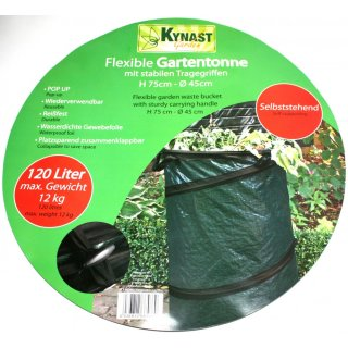 Kynast Gartensack, Gartentonne, Laubsack, Grünabfalleimer Pop-Up 120 Liter 75 x 45 cm