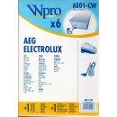 Wpro 6x Staubsaugerbeutel AE01-CW passend für AEG...