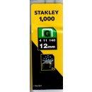 Stanley Klammern Typ G 4/11/140, 1000 Stück, 12mm...