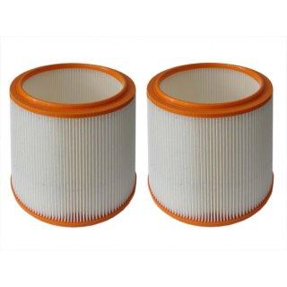 2x daniplus © Filter, Luftfiltereinsatz, Rundfilter, Dauerfilter 185x150x174mm passend für Parkside PNTS 1500 A1, PNTS 1400 A1, 91092030