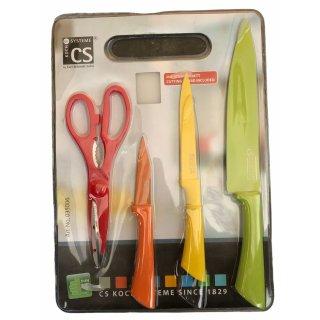 CS-Kochsystem Messer Set mit Schere und Schneidbrett, Fun4U - Nr. 035006