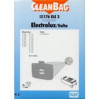 CleanBag Staubsaugerbeutel 176ELE3 für Electrolux / Volta