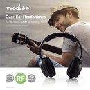 Nedis Kabelloser Funkkopfhörer bis zu 80m Reichweite, Kopfhörer für TV PC RADIO MP3