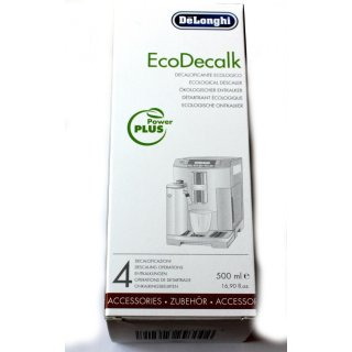 DéLonghi Entkalker SER3018 EcoDecalk für Kaffeevollautomaten und Espressomaschinen - 500ml für 4 Entkalkungen