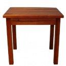 Beistelltisch Tisch aus Kiefer, geölt   -  40,5 x 48cm, Gartentisch, Balkontisch