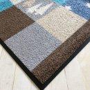 Waschbare Fußmatte - Weihnachten -X mas blau 50x75...
