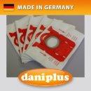 daniplus© 122 / 5 Vlies Staubsaugerbeutel HyperfiltPlus® passend für AEG E200, E200B, Philips FC8021