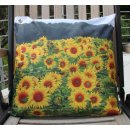 Gartenkissen Sonnenblumen - ca 45 x 45 cm - Outdoor Kissen