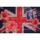 Waschbare Fußmatte - British Rose 50x75 cm wash+dry