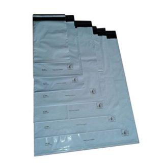 100x Versandtüten, Versandtaschen, Versandbeutel, Adhäsionsbeutel selbstklebend, weiß 325 x 425 + 50 mm