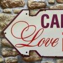 Blechschild - CANDY BUFFET - LOVE IS SO SWEET - Schild im...