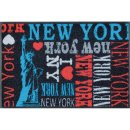 Waschbare Fußmatte - NY Liberty New York 50x75 cm -...