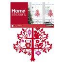 XMAS Fenster Sticker Weihnachten - Waldtiere - statisch...