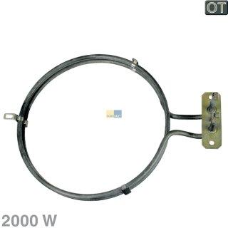 Heizelement, Ringheizung 2000W für Backofen Heißluft AEG Electrolux - Nr.: 357028403/8, 3570284038 ersetzt 358190736