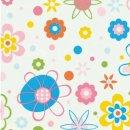 Klebefolie - Möbelfolie bunte Blumen -  45 cm x 200 cm