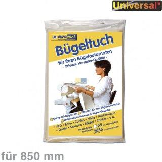 Bügeltuch für Bügelmaschine - universal für Walzenbreite 85cm (Miele, Cordes)