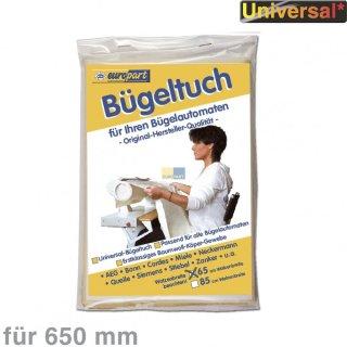 Bügeltuch für Bügelmaschine - universal für Walzenbreite 65cm (Miele, Siemens, Cordes)