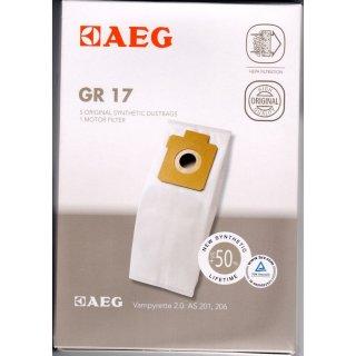 AEG Electrolux 5 Staubsaugerbeutel Gr. 17 + 1 Motorfilter für Vampyrette 2.0 - Nr.: 9002564467