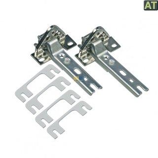 Türscharnier Einbau 2er Set, Bohrung 30/35 und 42 mm für Kühl-/Gefrierschränke passend für Bosch Siemens für 268698