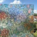 Fensterfolie Tulips Adhesive - Klebefilm Bleiglas Look...