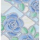 Fensterfolie Amience Blue Adhesive - Klebefilm Bleiglas...