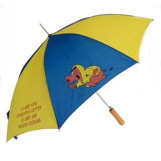 Uli Stein Regenschirm - Stockschirm - Es gibt kein schlechtes Wetter - Schirm