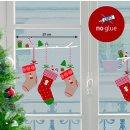 XMAS Fenster Sticker Weihnachtssocken Stocking - statisch...