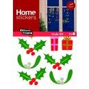 XMAS Fenster Sticker Stechpalme Weihnachtsgirlande...