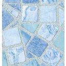 Klebefolie - Möbelfolie selbstklebend Mosaik blau...