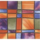 Statische Fensterfolie Barcelona - Buntglasfolie 0,45 x...