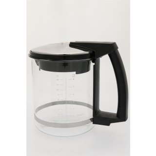 Melitta® Isolierkanne, Thermokanne, Ersatz-Kanne für Kaffeemaschine Look® Therm de Luxe M648, schwarz/silber, 8 Tassen