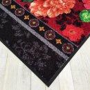 Waschbare Fußmatte - Black Beauty Blumen 50x75 cm...